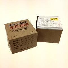 NEW Bid Card Stub Retainer Box (10 per pack)