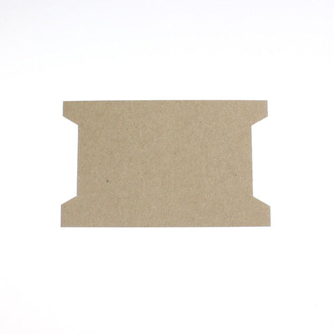 "3-1/2"" x 6"" Chipboard Winding Cards (Box of 100) for cord, trim, ribbon."