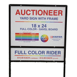 Full Color Rider Sign