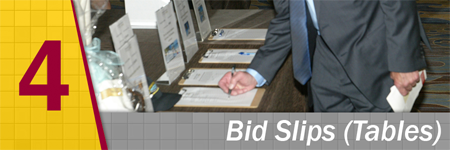 Silent Auction Bidding Sheets