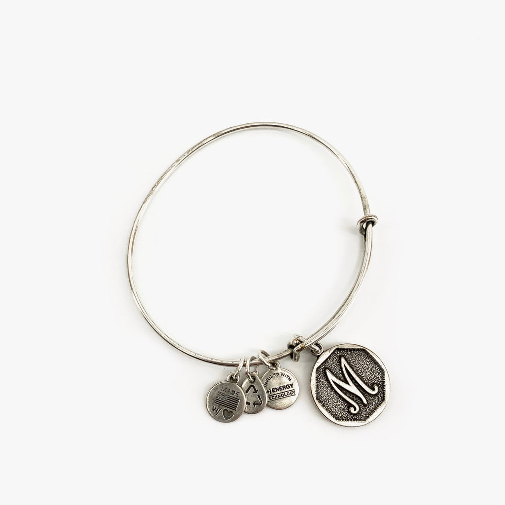"Alex and Ani Bracelet - ""M"" Initial"