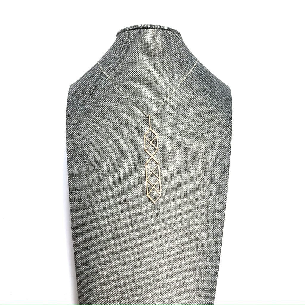 MENT Jewellery Necklace - Bronze Plated Steel Limited Edition Geometric