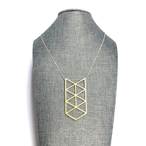 MENT Jewellery Necklace - Gold Arcus III