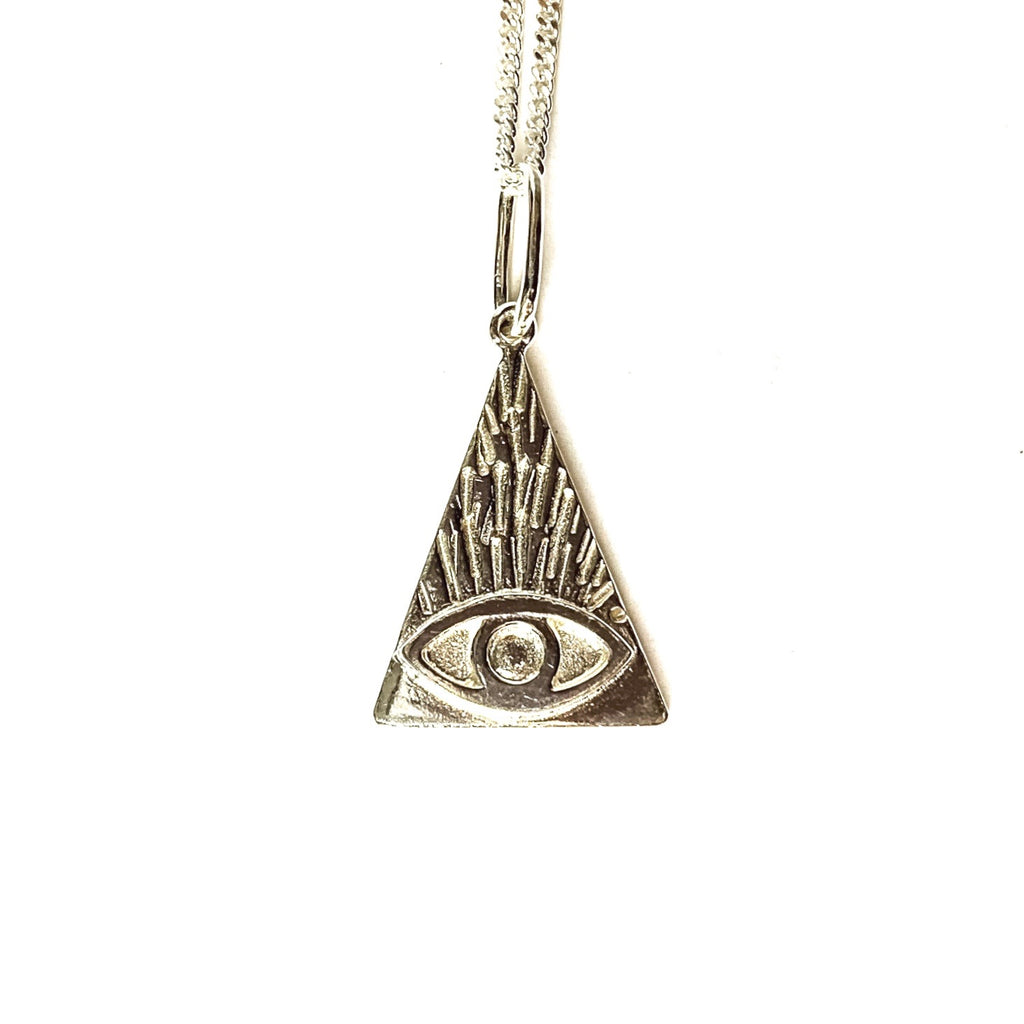 MENT Jewellery Necklace - Silver Evil Eye