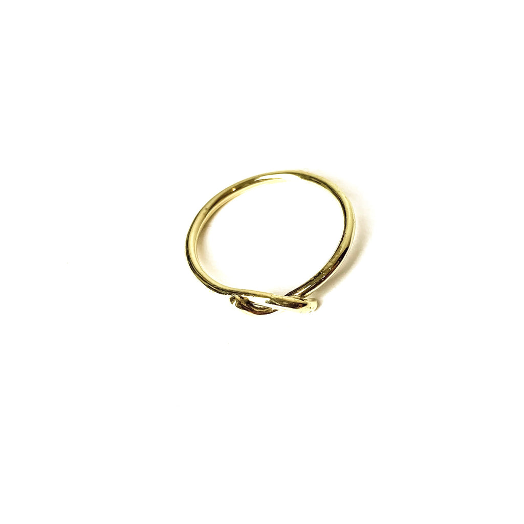 MENT Jewellery Ring - Brass Forget Me Knot