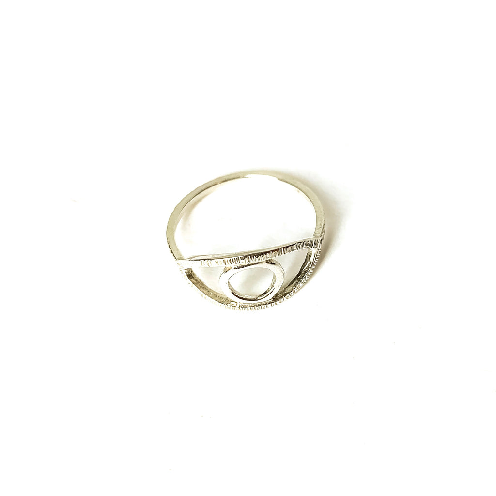 MENT Jewellery Ring - Silver Eye Of Ra