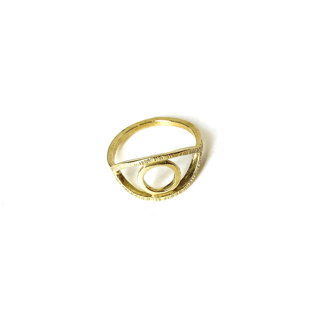 MENT Jewellery Ring - Brass Eye Of Ra