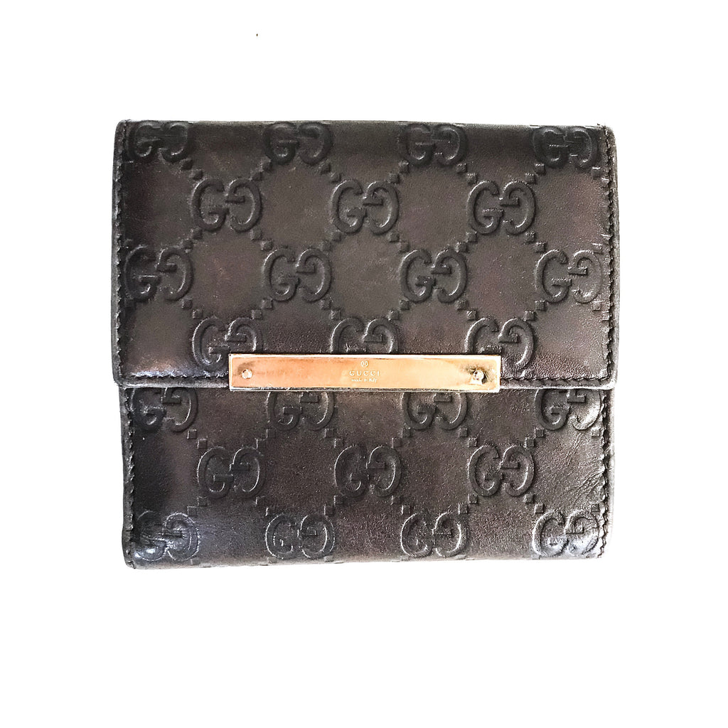 "Gucci ""Guccissima French"" Wallet"