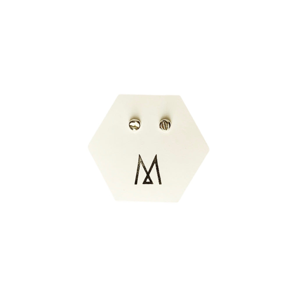 MENT Jewellery Earrings - Silver Buttons