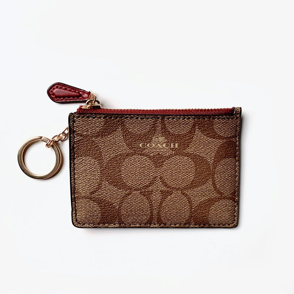 Coach Card Holder - Mini Skinny Id Case - New!