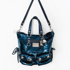 "Coach Poppy ""Blue Jean Sequin"" Bag"
