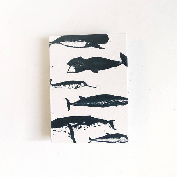 Whales Hardcover Notebook