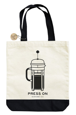 French Press On Tote