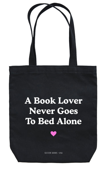Book Lover Black Tote