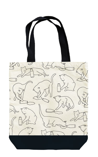 Cat Lap Book Tote