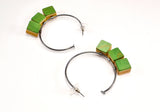 Triple Cube Bauble Hoops