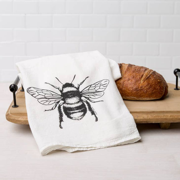 Bee Flour Sack Tea Towel