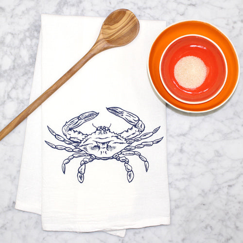 Crab Flour Sack Tea Towel