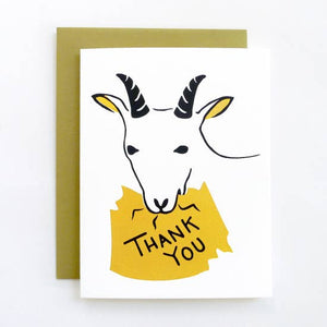 Goat Thank You Letterpress Card