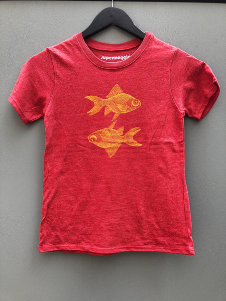Flipped Goldfish Kids Tee