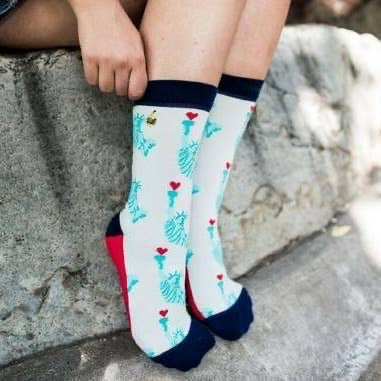 Lady Liberty Love Socks