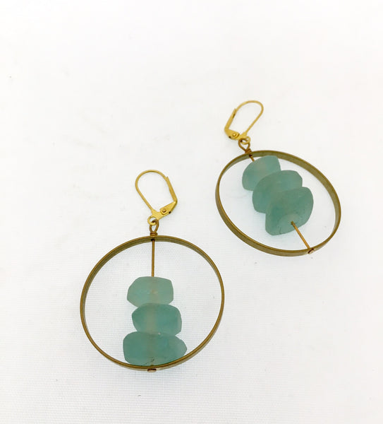 Stacked Glass Earrings