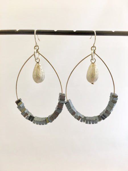 Hematite Bundle Earrings