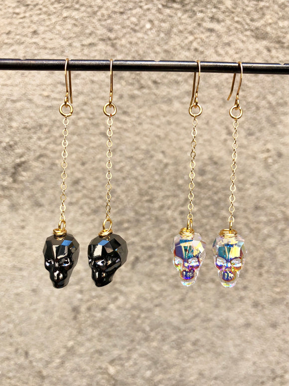 Crystal Skull Dangles (options)
