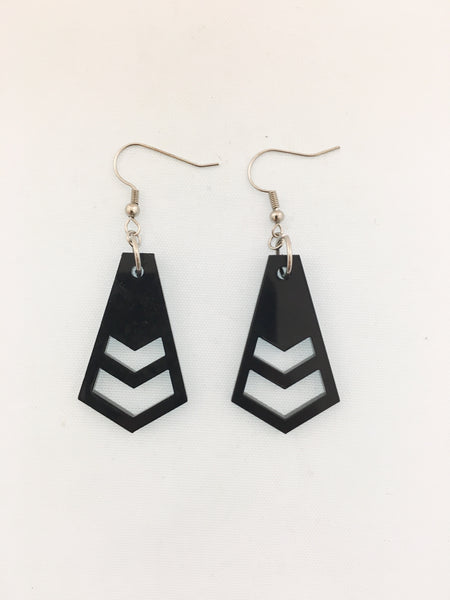 Chevron Cut Dangles