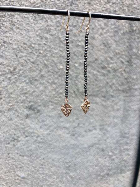 Pyrite Arrow Earrings