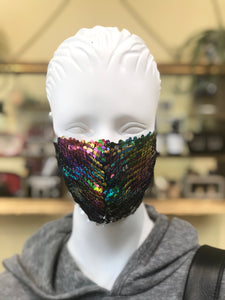 Extra Rainbow Face Cover (child size available)