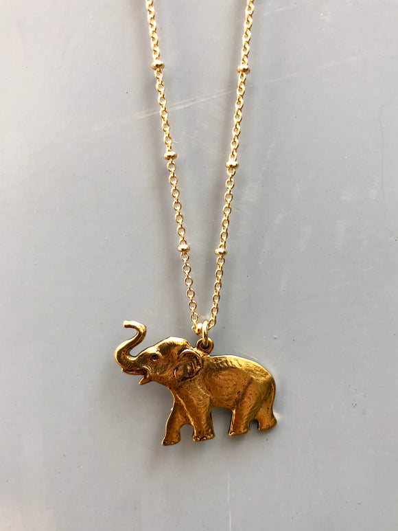 Walking Elephant Necklace
