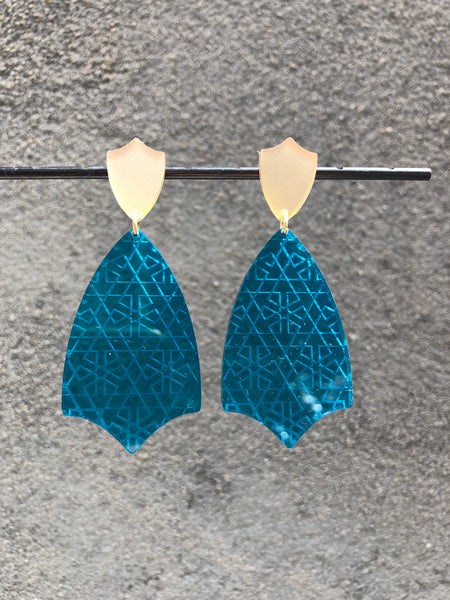 Etched Tulip Earrings