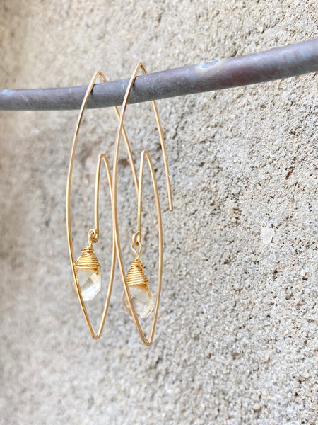 Wire Spiral Hoops (multiple options)