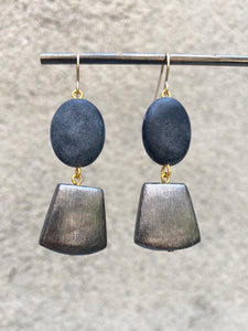 Matte Onyx Earrings