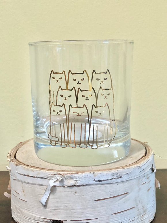 Cats Rocks Glass