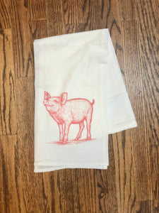 Prize Pig Flour Sack Tea Towel