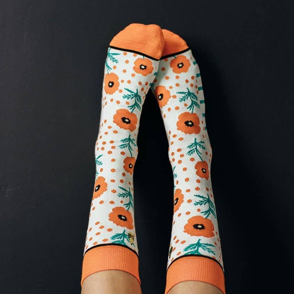 Poppy and Dot Socks