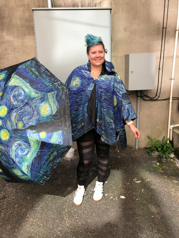 """Starry Night"" Rain Cape"