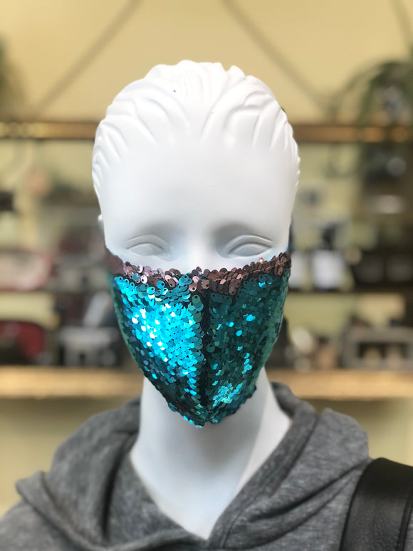 Teal Face Cover