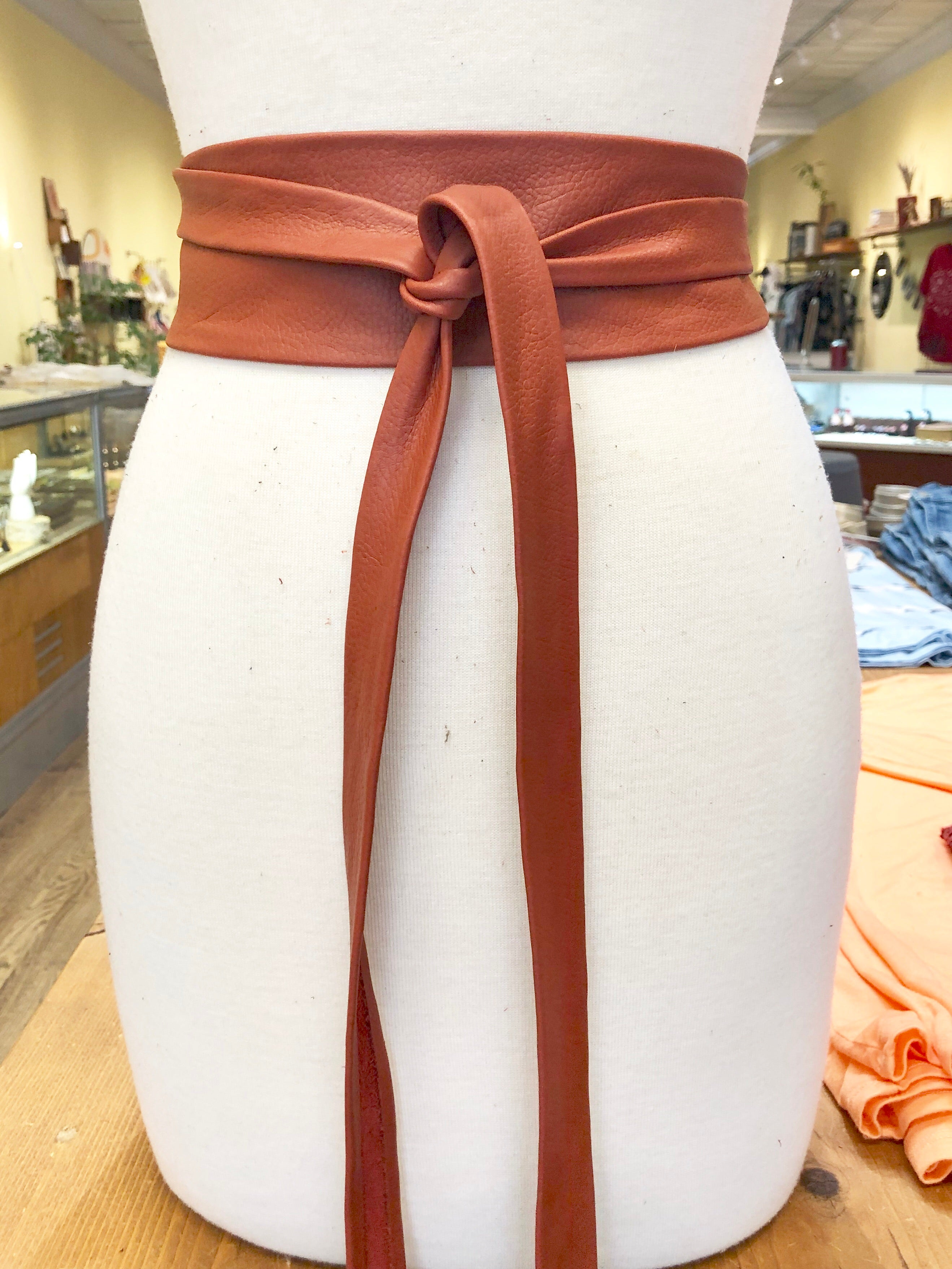 Copper Papaya Wrap Belt