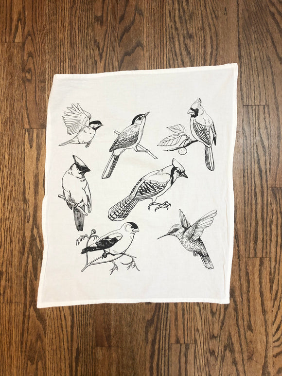Birds Flour Sack Tea Towel