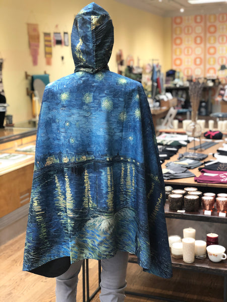 """Starry Night Over the Rhône"" Rain Cape"