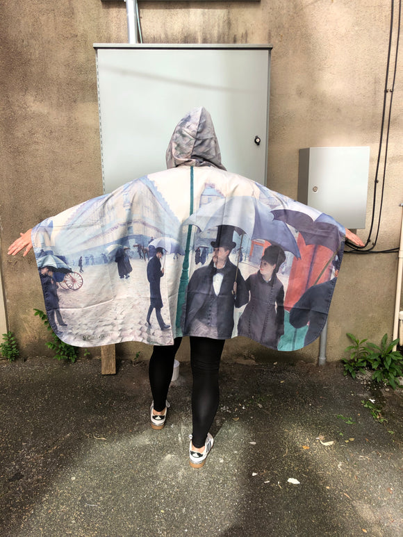 """Paris Street Rainy Day"" Rain Cape"