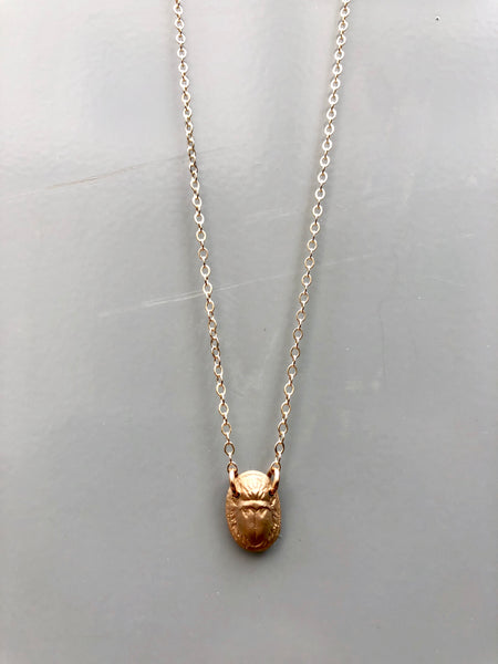 Tiny Scarab Necklace
