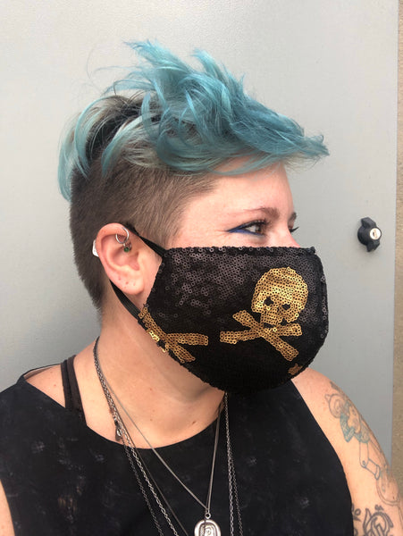 Pirate Sequin Face Cover