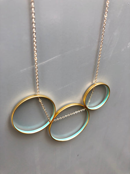 Blue Circles Necklace