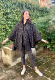 Black Velvet Swirls Rain Cape