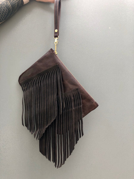 Custard's Wristlet (Brown fringe)