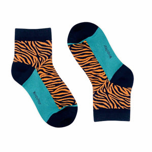 Tiger Stripe Mini Crew Socks